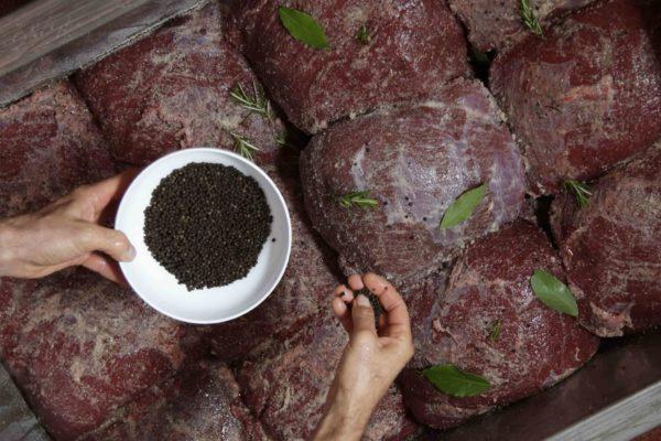 Carne Salada - preparazione