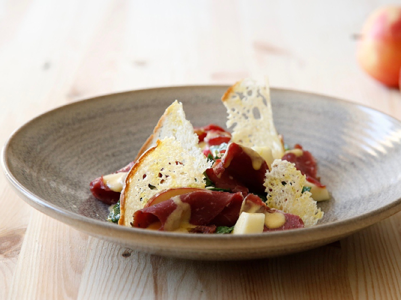 Carne salada con maionese di mele - Birra Adige DAO bionda