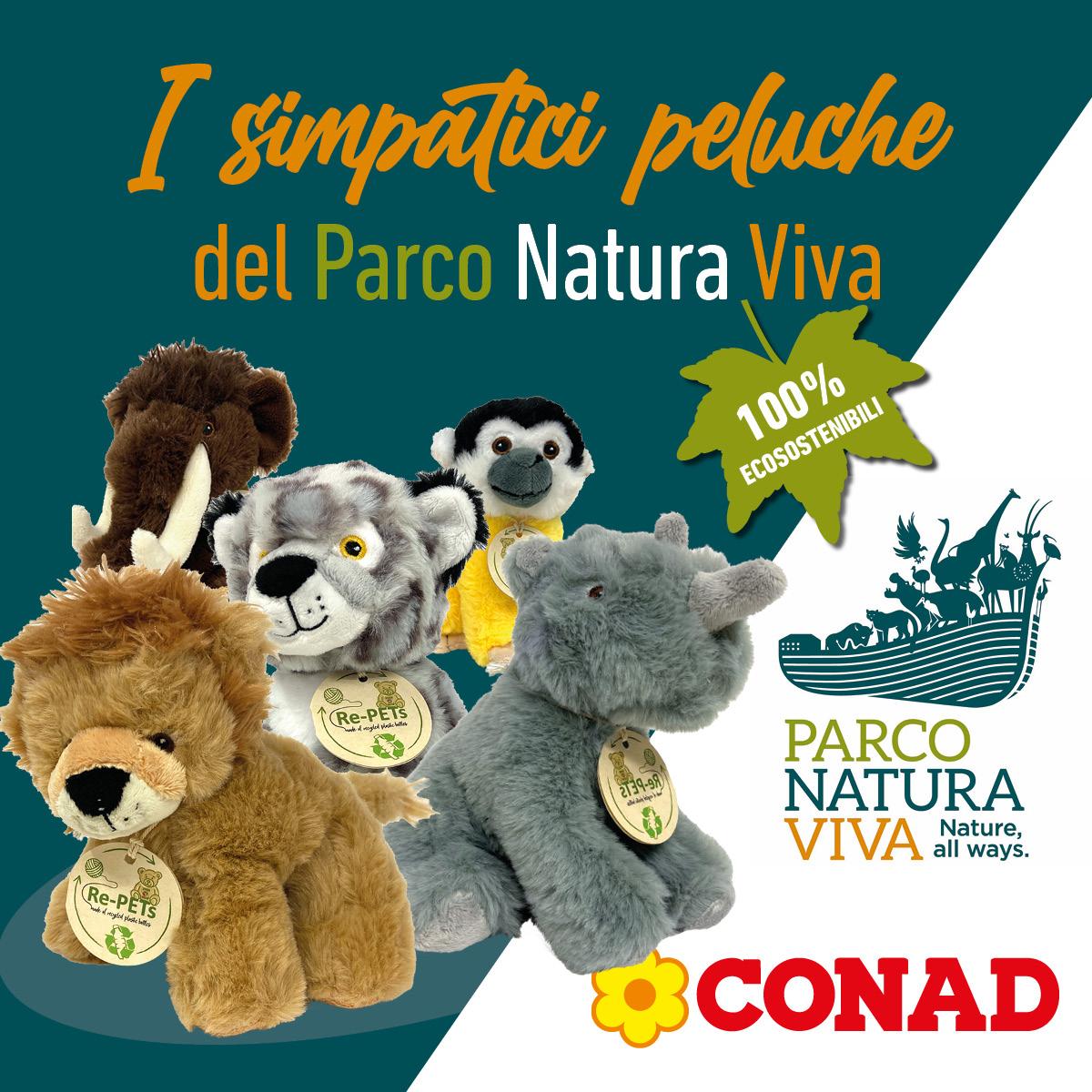 Parco Natura Viva gadget peluche DAO Conad