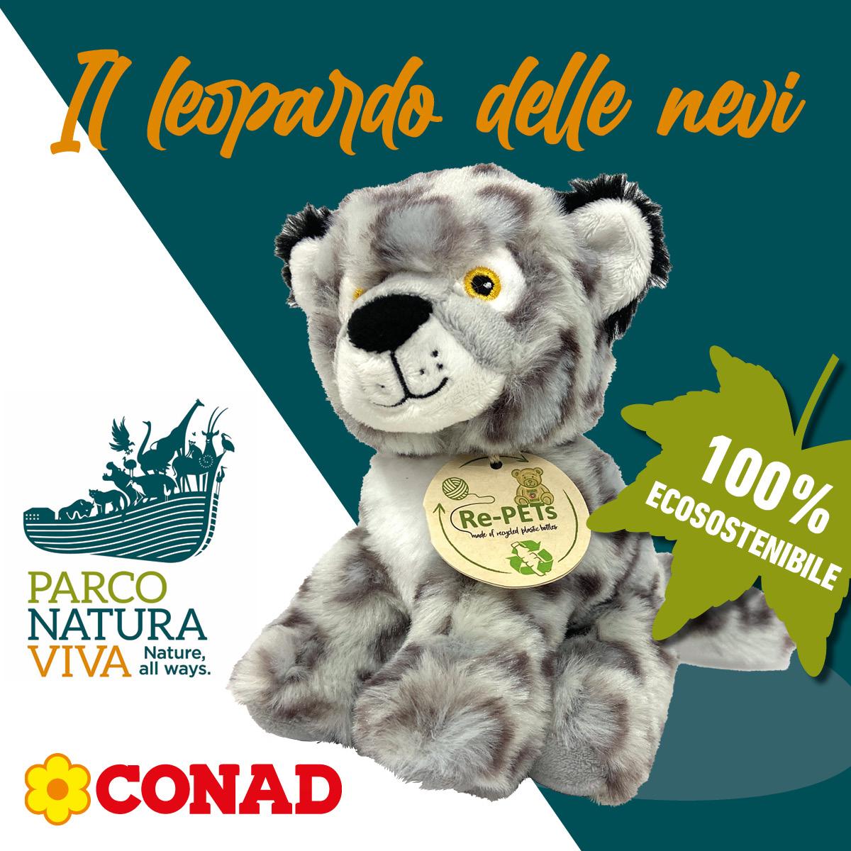 Parco Natura Viva peluche leopardo delle nevi