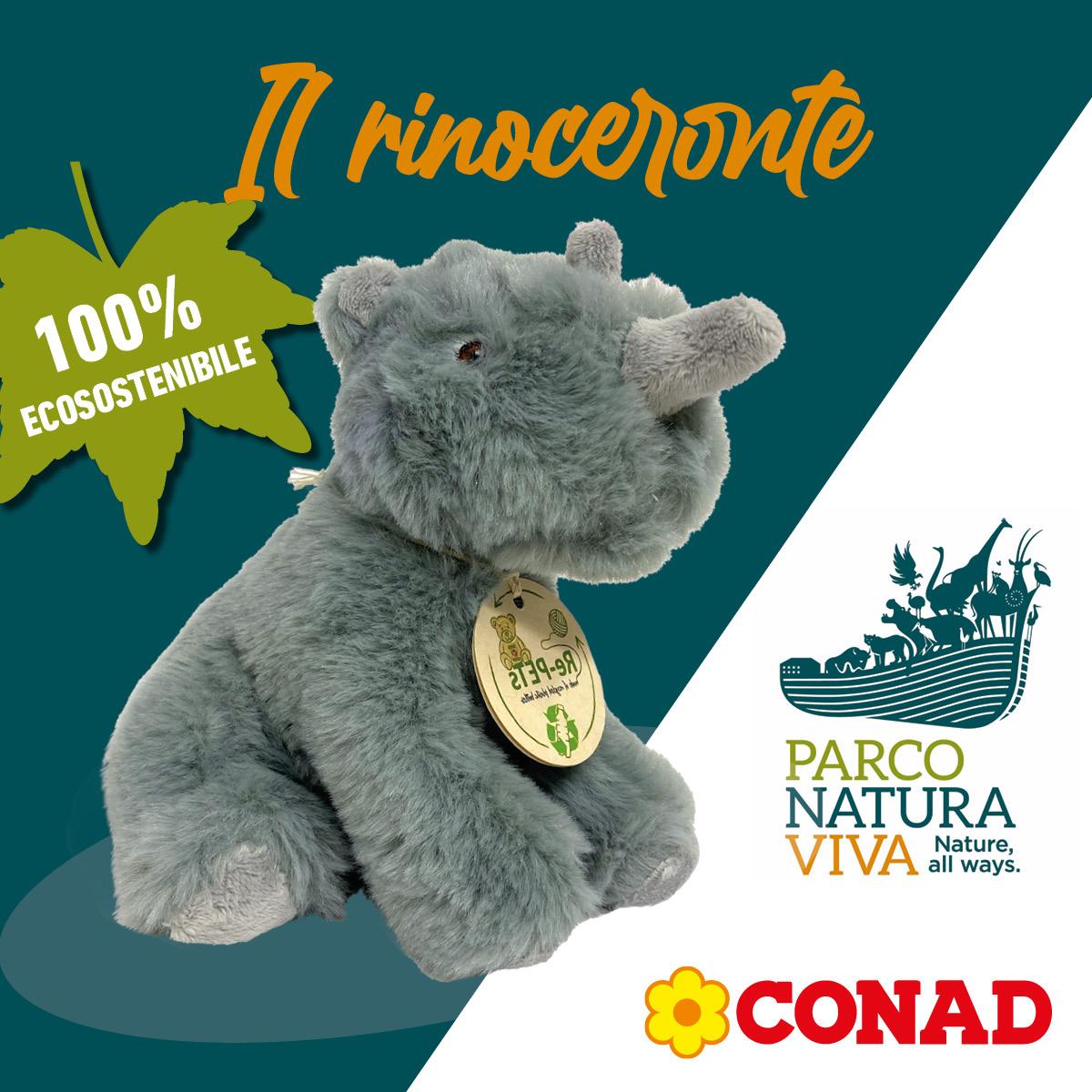 Parco Natura Viva peluche rinoceronte