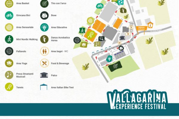 mappa percorso Kids Vallagarina Experience Festival 2021